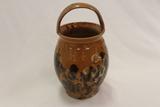 Stoneware Handpainted Glazed Pottery Vase