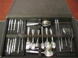 Royal Danish International Sterling Silver 77 Piece Set.