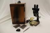 Microscope W/Wood Box