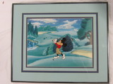 Serigraph - Mickey Mouse Golfing.