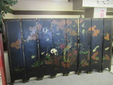 Large 8 Panel Asian Screen