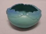 Van Briggle Acorn and Oak Leaf Bowl in Ming Blue