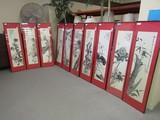 10 Panel Asian Art.