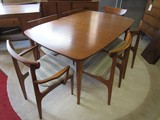 Mid-Century Modern Table with 6 Chairs.