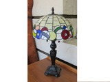 Tiffany Style Lamp with Pool Ball Shade.