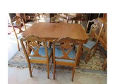 Jacobean Style Table with 5 Chairs.