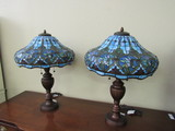 Set of 2 Tiffany Style Lamps with shades.