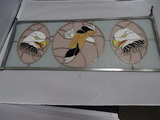 Stained Glass Eagle with Metal Frame.