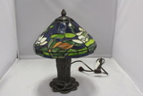 Tiffany Style Stained Glass Lamp and Shade