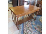 Spindle Leg Desk with Drawer