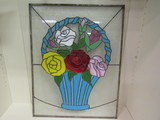 Stained Glass Flowers in Basket