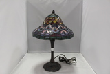 Tiffany Style Stained Glass Shade with Lamp