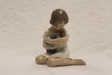 Copenhagen Denmark Figurine - Girl Holding Doll