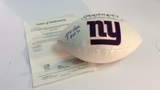 Y.A. Tittle New York Giants Stat Football Autographed
