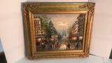 738- Paris Street Scene Painting