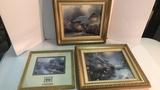 Set of 3 Thomas Kinkade Framed Prints