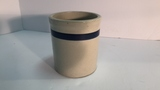 Small Crock with Blue Stripe.