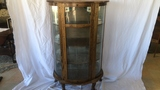 Curved & Stained Glass Curio Cabinet.