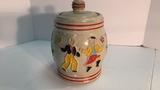 Stoneware Cookie Jar.