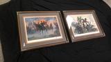M Kumstler Pair of Framed Prints.