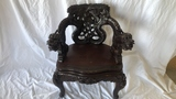 Heavily Carved Asian Dragon Chair.