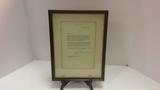 Framed Letter to Eugene J. Lyons. From Eisenhower