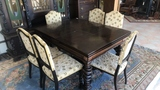 Spindle Leg Dining Table and 6 Chairs.