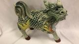 Asian Fu-Dog Ceramic Statue.