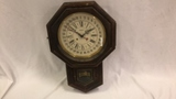 New England Clock Co. Regulator Clock.
