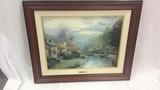 """Thomas Kinkade Print """"Lamplight Brook"""""""