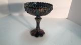 Fenton Carnival Glass Pedestal Bowl.