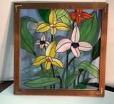 Stained Glass Framed Panel.