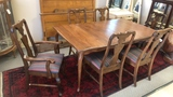 Queen Anne Style Dining Table and 6 Chairs.