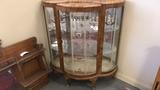 Curved Glass Short Curio Cabinet.