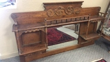 Antique Wall Shelf with Mirror.