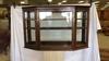 Antique Oak Display Cabinet.