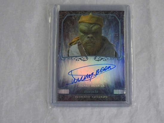 Star Wars Barada Dickey  Beer Auto Topps Card