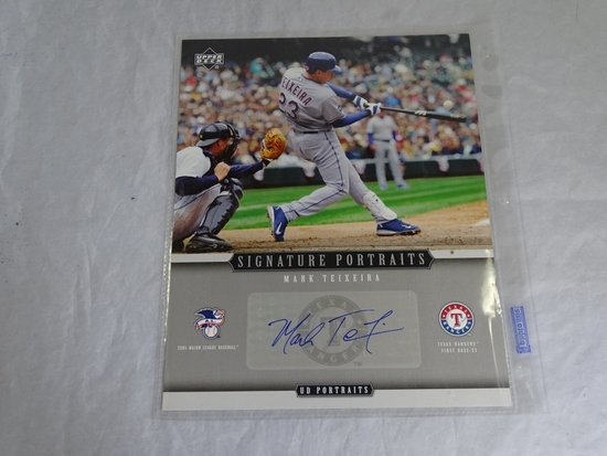 Mark Teixerira Autographed 2005 Upper Deck
