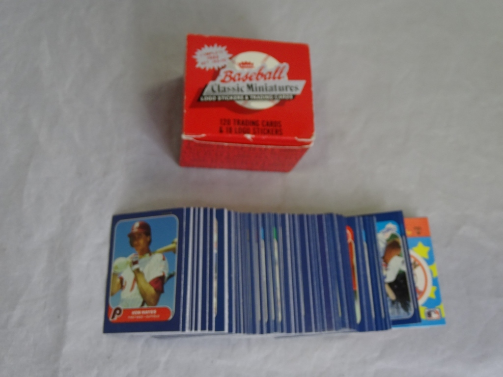 Vintage1986 classic miniatures set of cards