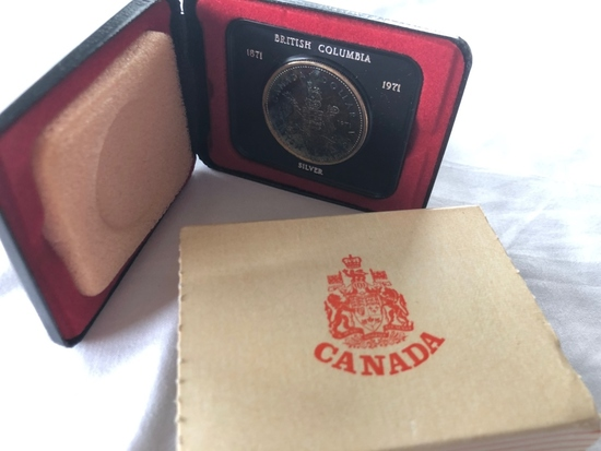 Canadian Silver Dollar British Columbia 1871-1971.