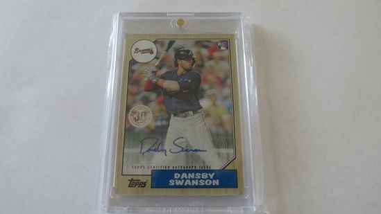 2017 Topps Certified Autograph Issue, Dansby Swanson Card