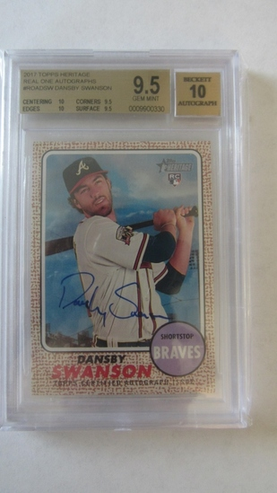 2017 Topps Heritage Minors Real One Autographs #ROADSW Dansby Swanson
