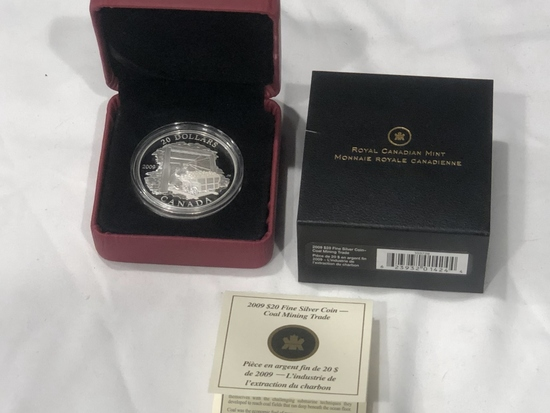 2009 $20 Fine SIlver Canadian Coin.
