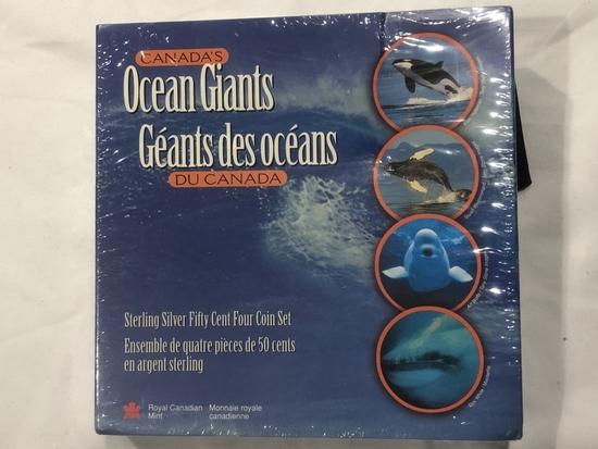1998 Canada's Ocean Giants Coin Set.