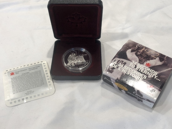 1997 Canadian Proof Silver Dollar - USSR/Canada