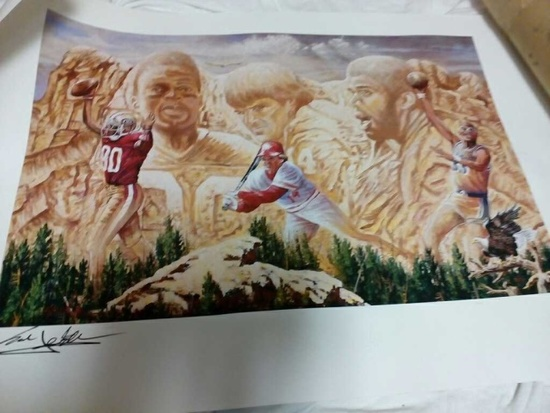 The All-Time Leaders Lithograph