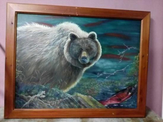 Steven P. Volski bear with salmon