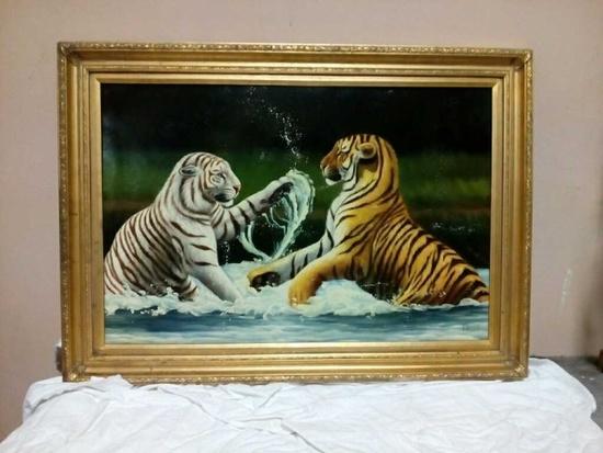 Oil on canvas by Kaiser