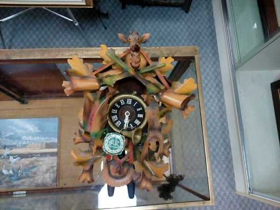 German Black Forest Hunting Cuckoo Clock