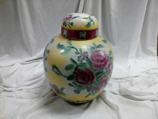 Large Chinese Ginger Jar with Lid